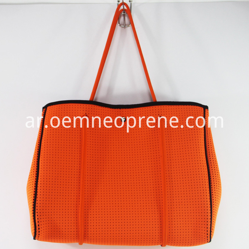 perforated tote beach bag