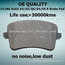 D1386 brake pad for AUDI S4 2010-2012 R AUDI AUTO Parts
