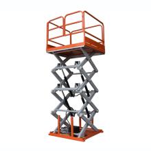 гидравлический грузовой подъемник стационарная ножничная подъемная платформа