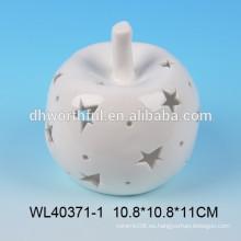 Luz de cerámica con diseño de manzana