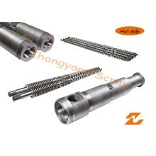 Tambor de parafuso duplo cônico para tubo de extrusão de tubo de perfil de folha de grânulo de PVC Barril de parafuso de extrusão