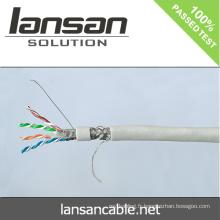 Lansan 4pair cat6 sftp câble réseau 305m 23awg BC pass didactique bonne qualité et prix d'usine