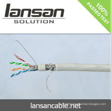 Lansan 4 pair sftp cat6 cable 305m 23awg BC pass fluke test good quality and factory price