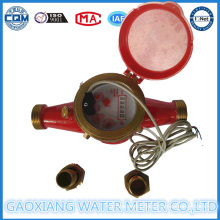 Multi Jet Dry Dial Pulse Output Water Meter Dn15mm