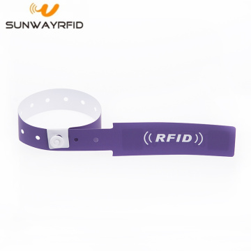 Custom Printed Disposable UHF RFID PVC lengan gelang