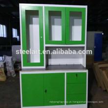 Armário de armário de cozinha de metal Sul Amfrica mercado com design de pia