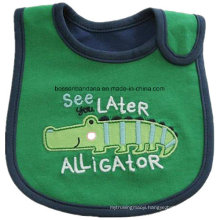 OEM Produce Customized Design Applique Embroidered Cotton Baby Bib