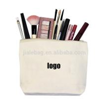 Персонализированные собственный пользовательские печатные этикетки милый молнии косметический макияж художник холст хлопка сумка