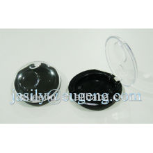 round shape single color eyeshadow case with transparent lid