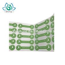 adhesive paper printing turkish airlines stick label