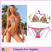 Hot Sale Style Femmes Lady Adulte Sexy Floral Print Bikini Femme Swimwear 2016