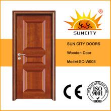 Simple Design Veneer Timber Solid Wooden Doors (SC-W008)