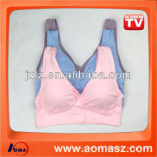 famous sports bra with removable pads
