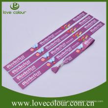 Forme el wristband amistoso de ECO con la insignia de la impresión de la sublimación