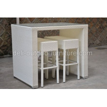 White Color Tente Rattan Bar Furniture