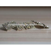 Bolso de venta caliente etiqueta de bolsa de metal accesorio con letra del alfabeto