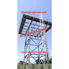 1.22x1.22m galvanized steel elevated water tank with size 3.66x3.66x3.66