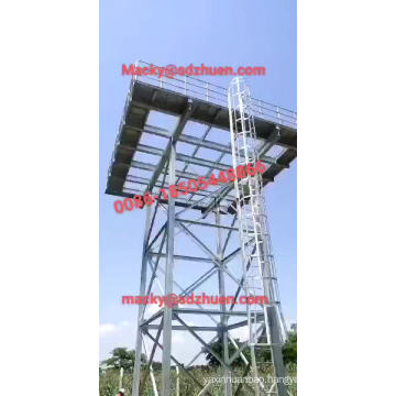 50M3 Elevated Steel Water Tank 10m High for Water Supply Domestic Application
