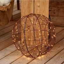 3D led metal Ball shape Motif festival light
