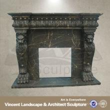 Черный каминная доска камина,Мраморный каминную доску камина, каминные доски камина ВФМ-NB057A