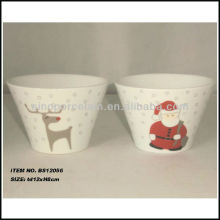 xmas conical bowl with beautiful decal design for BS12056A