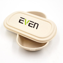 Healthy Food Grade Boxes Takeaway Packaging Bagasse Box Cake Bowl With Lid For Lunch