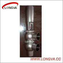 Ss304 Sanitaire pneumatique soudé inversant la vanne