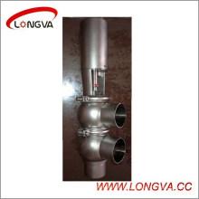 Ss304 Нержавеющей Стали Санитарный Пневматический Сваренный Обращая Клапан