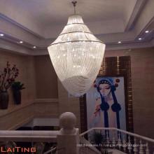 Grand lustre en cristal d'hôtel personnalisable