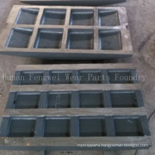 Mining Machinery Parts Jaw Crusher Spare Parts Jaw Plate