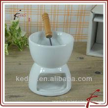 Lindo cerámica mini fondue conjunto