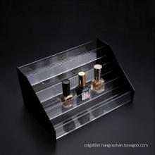 Custom Design 30 Bottles 4 Tiers Clear Plexiglass Acrylic Nail Polish Display Rack