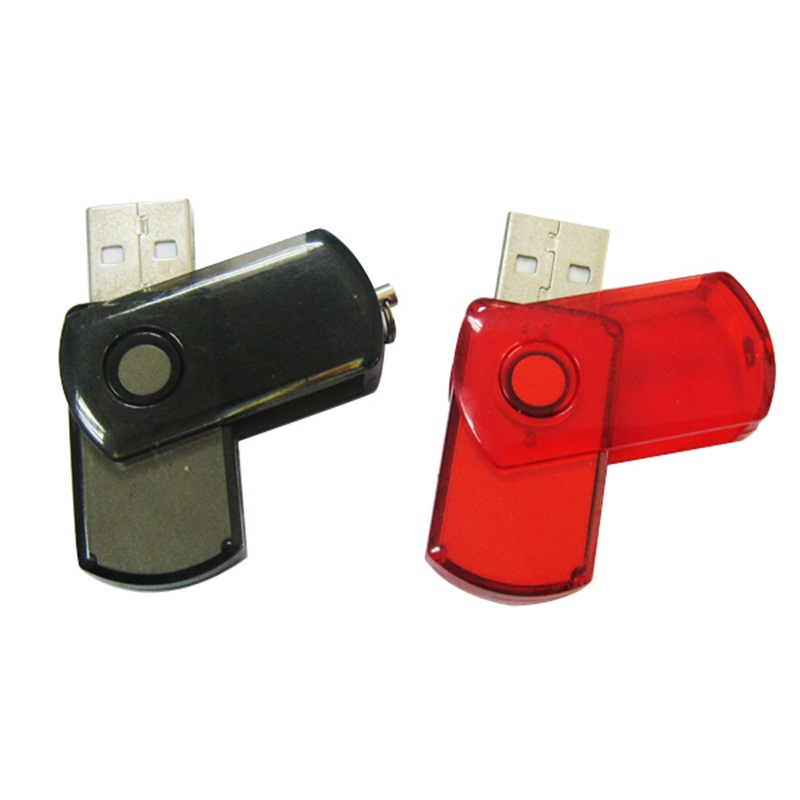 Free Sample OEM Plastic Colorful Swivel Pendrive