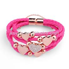 NH00773 bracelet en cuir tressé préféré pour fête