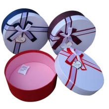 Round Gift Box with Ribbon for Packing