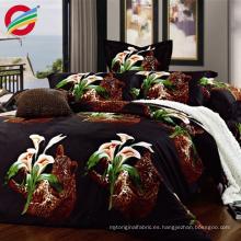 Tejido de colchón 100% estampado con textura de poliéster brillante