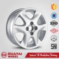 Aro para rodas de carro de liga de alumínio de 15 polegadas