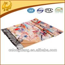 Chine Haute qualité Soie Douce Pashmina Sentez-vous Divers Couleur imprimé Écharpes Soie