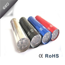 Factory Supply Colorful 3AAA battery Powered gift led flashlight, Aluminum gift Promotional Small Power led Flashlights