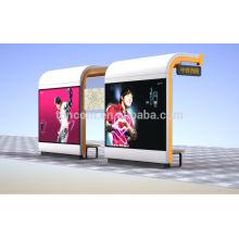 THC-55 abrigo de ônibus grande com caixa de publicidade dupla