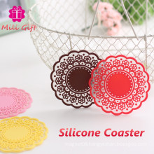 Festival Promotion Gift Silicone Coaster Coffee Cup Mat Pad China Supply