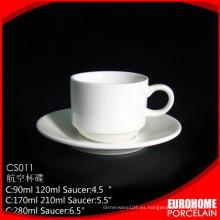 Chaozhou fábrica porcelana fina por mayor de café Copa conjunto