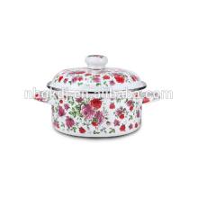 flower pot with full enamel decals flower pot with full enamel decals