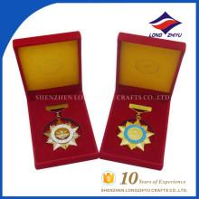 Китай поставщиком индивидуальные военные медали с коробками