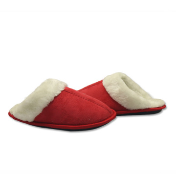 red warm house slippers for womens