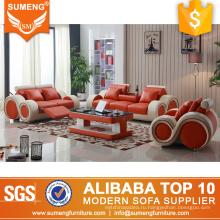 Американская экономия пространства 1+2+3 функциональные Италия кожа кресло диван, небольшой диван кресло