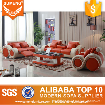 American space saving 1+2+3 functional italy leather recliner sofa, small recliner sofa