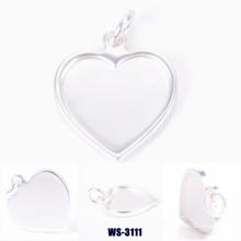 Pingente de liga de zinco forma de coração para senhora sacos