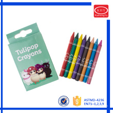 2016 assorted colors wax material 3.5 inches children painting crayon