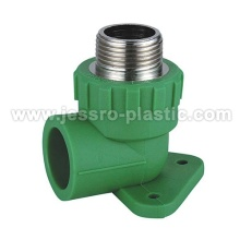 PPR Fittings-macho codo placa de pared (cobre)